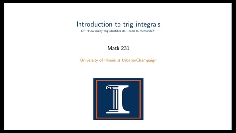 Introduction to trig integrals