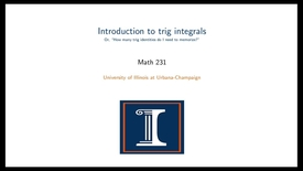 Thumbnail for entry Introduction to trig integrals
