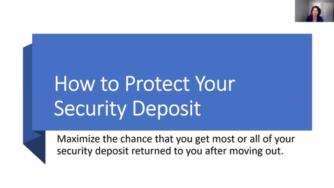 Thumbnail for entry Secure Your Security Deposit
