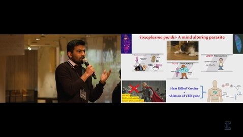 Thumbnail for entry 2019 Research Live! Srinivasu Mudalagiriyappa: Toxoplasma Gondii - A Mind-Altering Parasite
