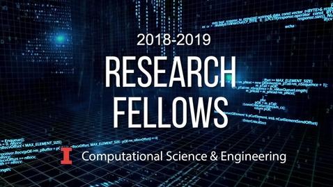 Thumbnail for entry 2018 - 2019 CSE Fellow:  Soumendu Bagchi