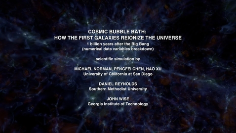 Thumbnail for entry Cosmic Bubble Bath: How the First Galaxies Reionize the Universe [variables]