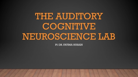 Thumbnail for entry The auditory cognitive neuroscience lab