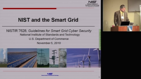 Thumbnail for entry NIST and the Smart Grid 2010