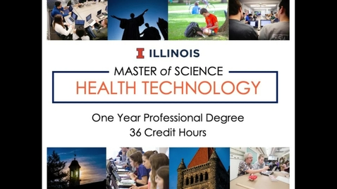Thumbnail for entry Master of Sciene in Health Technology