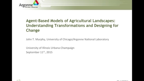 Thumbnail for entry NRES 2015 Fall Seminar Series - Dr. John T. Murphy