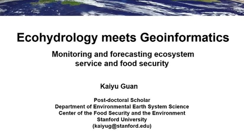 Thumbnail for entry NRES 2015 Spring Seminar Series 150203 - Kaiyu Guan