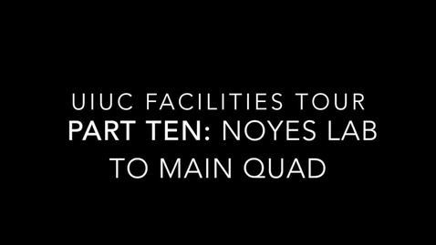 Thumbnail for entry UIUC Chemistry Facilities Tour Part 10: The Quad