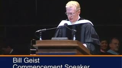 Thumbnail for entry Bill Geist address at 2005 Commencement