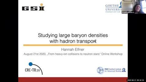 Thumbnail for entry Workshop: Heavy-ions to Neutron Stars: Hannah Elfner