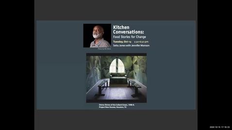 Thumbnail for entry Seitu Jones, GAM Visiting Artist, Kitchen Conversations, October 13, 2020