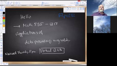 Thumbnail for entry QITMATH595April24
