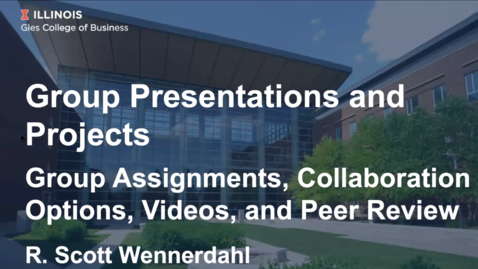 Thumbnail for entry Workshop: Group Presentations and Projects (04/10/20)
