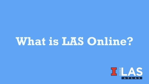 Thumbnail for entry Overview of LAS Online