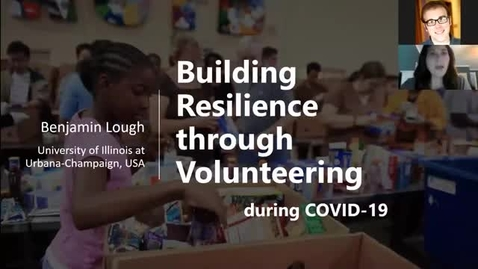 Thumbnail for entry Building Resilience through Volunteering during COVID-19