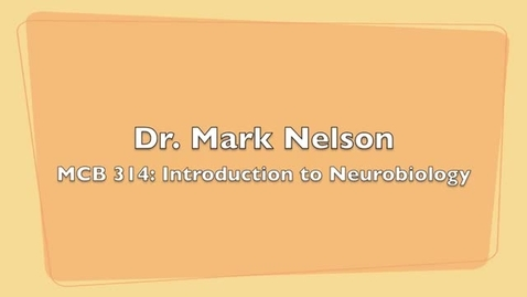 Thumbnail for entry MCB 314- Introduction to Neurobiology, Conversation with Dr. Mark Nelson
