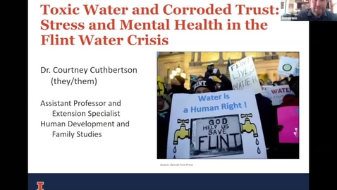 """Thumbnail for entry Courtney Cuthbertson, """"Toxic Water and Corroded Trust: Stress and Mental Health in the Flint Water Crisis"""""""