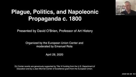 Thumbnail for entry Plague, Politics, and Napoleonic Propaganda c. 1800