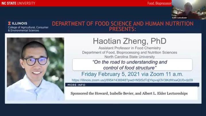 Thumbnail for channel FSHN 597 Graduate Seminar- Spring 2021