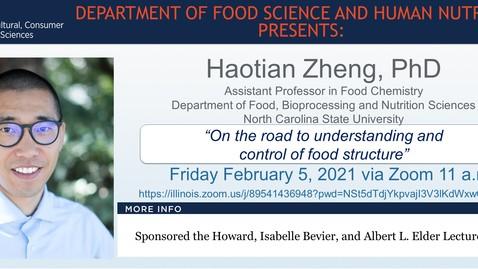 Thumbnail for entry Feb. 5, 2021 FSHN 597 Graduate Seminar- Dr. Haotian Zheng