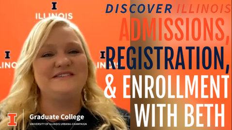 Thumbnail for entry Discover Illinois: Admissions, Registration, and Enrollment