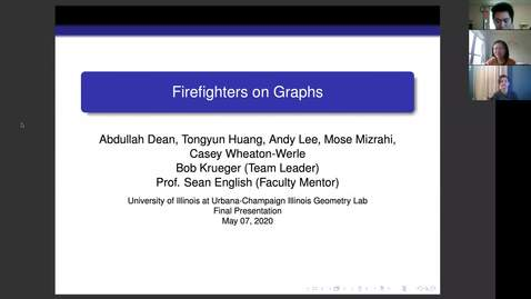 Thumbnail for entry IGL Spring 2020 - Firefighters On Graphs