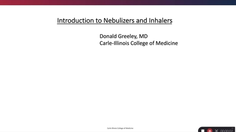 Thumbnail for entry Introduction to Nebulizers and Inhalers