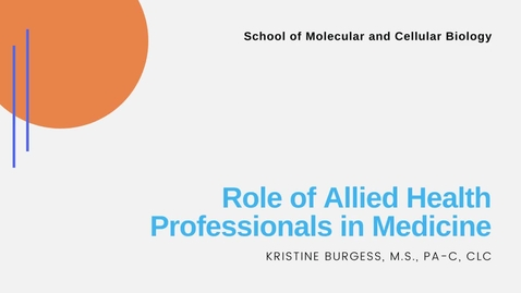 Thumbnail for entry Role of Allied Health Professionals in Medicine