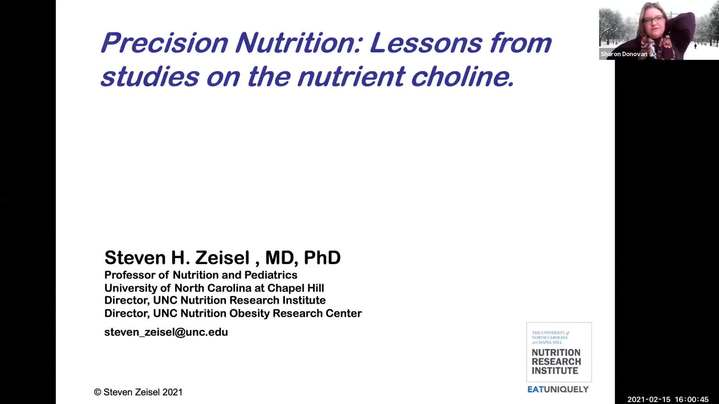 Thumbnail for channel Frontiers in Nutritional Sciences Seminar - Spring 2021