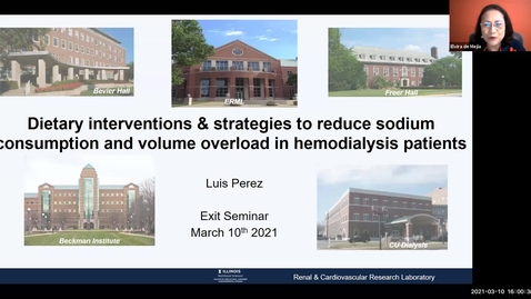 Thumbnail for entry 3.10.2021 - Luis Perez, Nutritional Sciences Doctoral Candidate - NUTR 500 Seminar - Frontiers in Nutritional Sciences