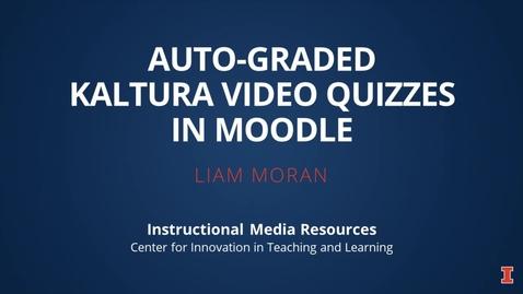 Thumbnail for entry Moodle Kaltura Video Quiz