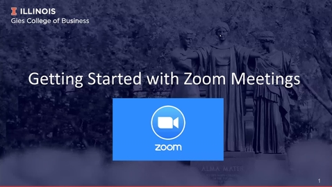 Thumbnail for entry Getting Started with Zoom Meetings