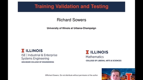 Thumbnail for entry Training Testing and Validation 1: models