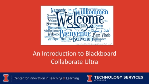 Thumbnail for entry An Introduction to Blackboard Collaborate Ultra