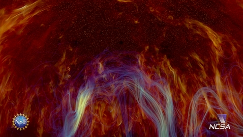 Thumbnail for entry Solar Superstorms visualization excerpt: Magneto-Convection Emerging Flux