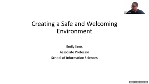 Thumbnail for entry Creating a Safe and Welcoming Environment
