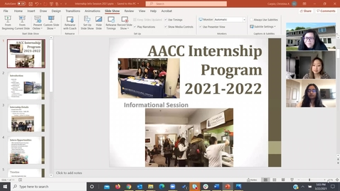 Thumbnail for entry AACC Internship Informational 2021-2022