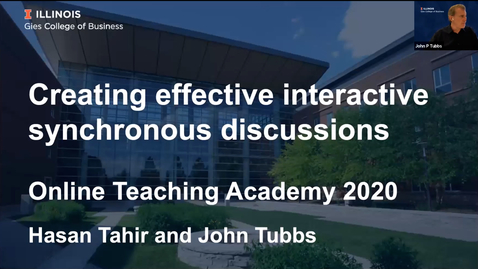 Thumbnail for entry OTA: Creating effective interactive synchronous discussion
