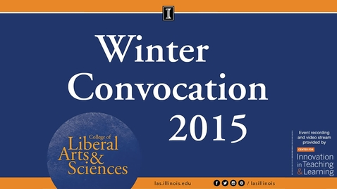Thumbnail for entry LAS Winter Convocation 2015