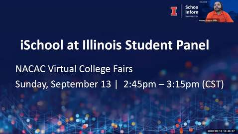 Thumbnail for entry iSchool at Illinois Student Panel (Fall 2020)