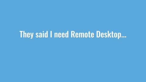 Thumbnail for entry How Remote Desktop Works