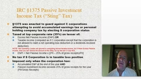 Thumbnail for entry IRC Section 1375 - Tax on Excess Net Investment Income