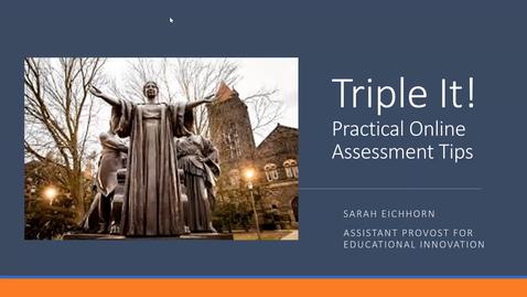 Thumbnail for entry OTA: Transitioning Assessments Online