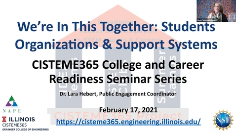 Thumbnail for entry CISTEME365 College & Career Series: We're In This Together