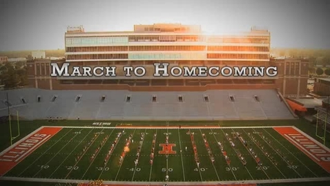 Thumbnail for entry Marching Illini: March to Homecoming