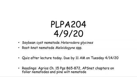 Thumbnail for entry PLPA204 lecture 4/9/20