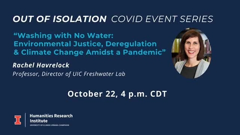 "Thumbnail for entry ""Washing with No Water: Environmental Justice, Deregulation and Climate Change Amidst a Pandemic"""