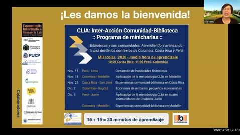 Thumbnail for entry CLIA: Inter-Acción Comunidad-Biblioteca Programa de minicharlas--Dec 9, 2020