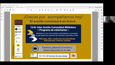 Thumbnail for entry CLIA: Inter-Acción Comunidad-Biblioteca Programa de minicharlas--Abr 7, 2021