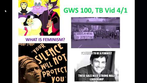 Thumbnail for entry GWS 100 Lecture vid 4/1